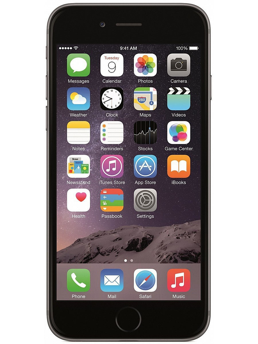 Смартфоны Apple Смартфон IPHONE 6 SPACE GRAY 64GB apple ipod touch 6g 64gb space grey mp 3 плеер