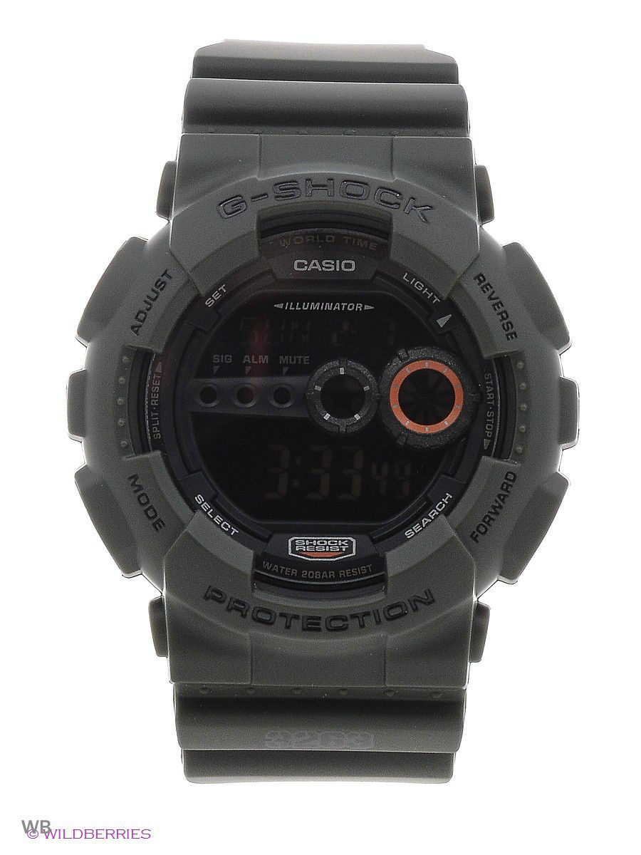 часы casio g shock gd x6900mc 1e black grey Часы наручные CASIO Часы G-SHOCK GD-100MS-3E