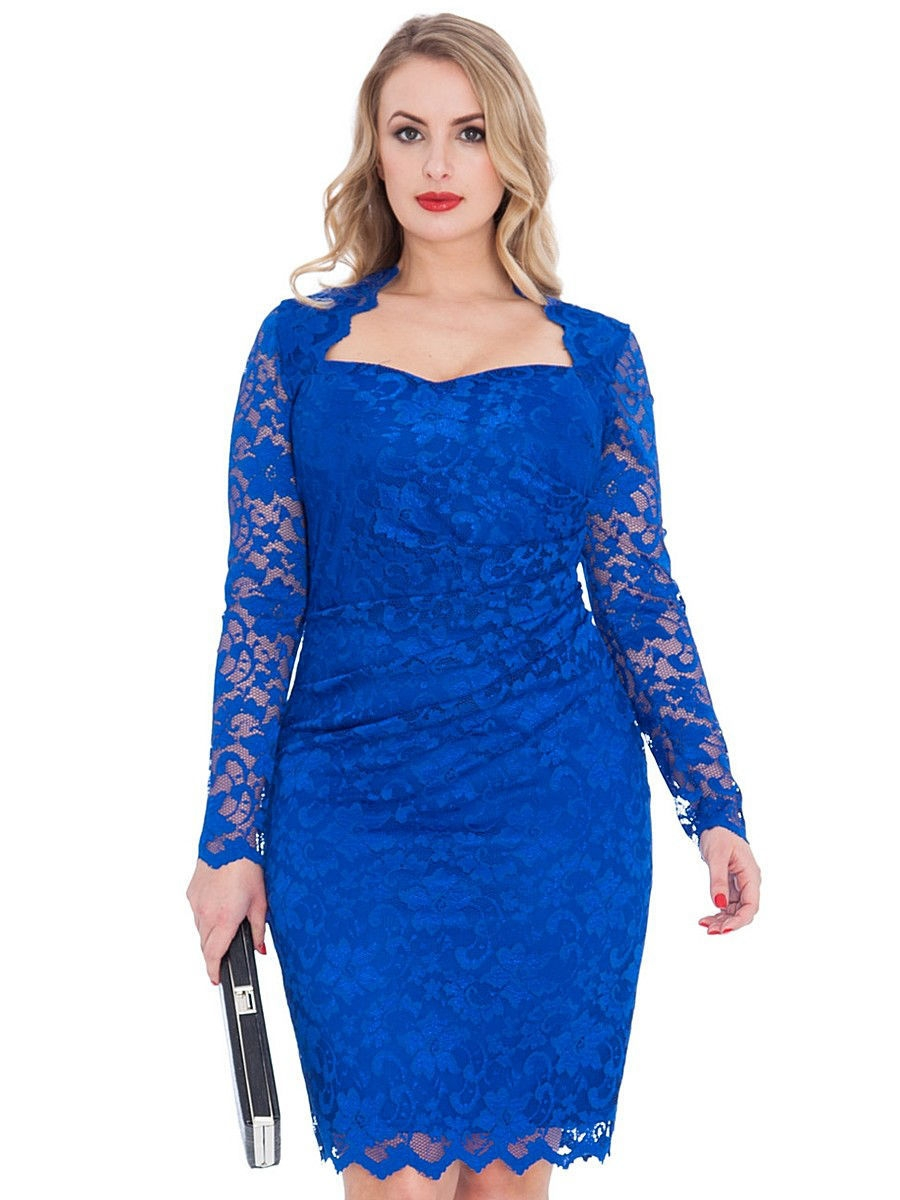 Платье Goddiva D2171BS/ROYALBLUE