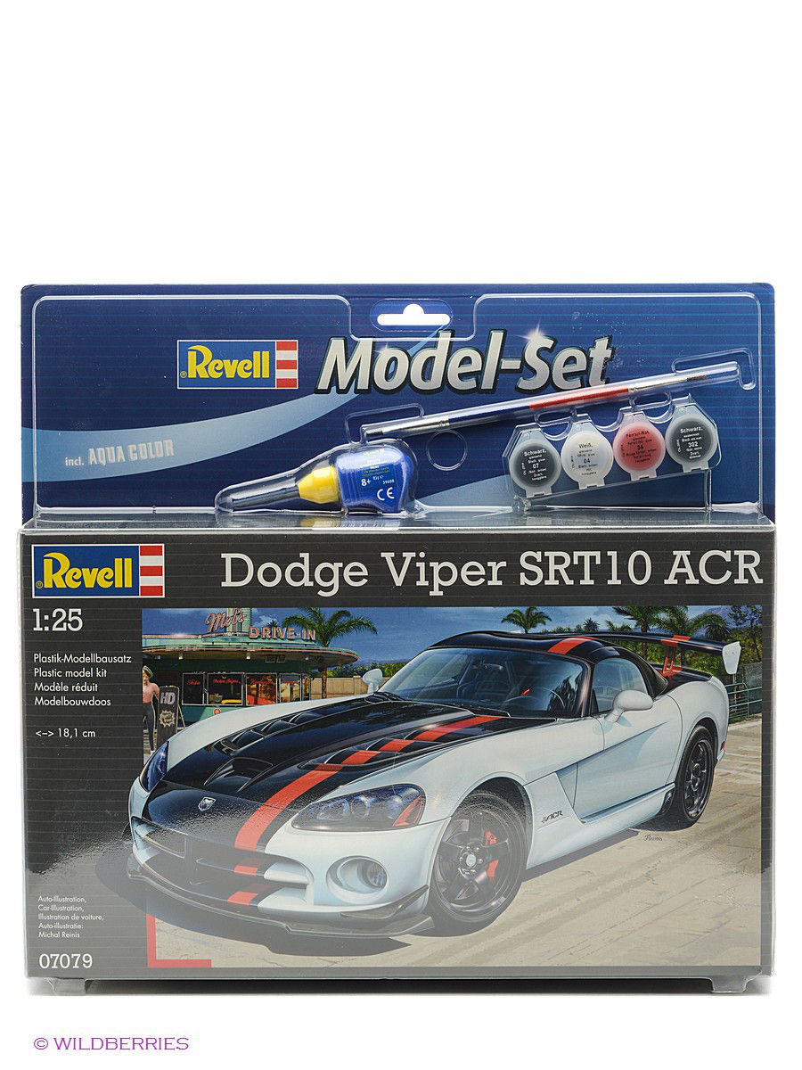 Машинки Revell Набор Автомобиль Dodge Viper SRT 10 ACR модель автомобиля 1 24 motormax dodge viper srt10 racing 2003