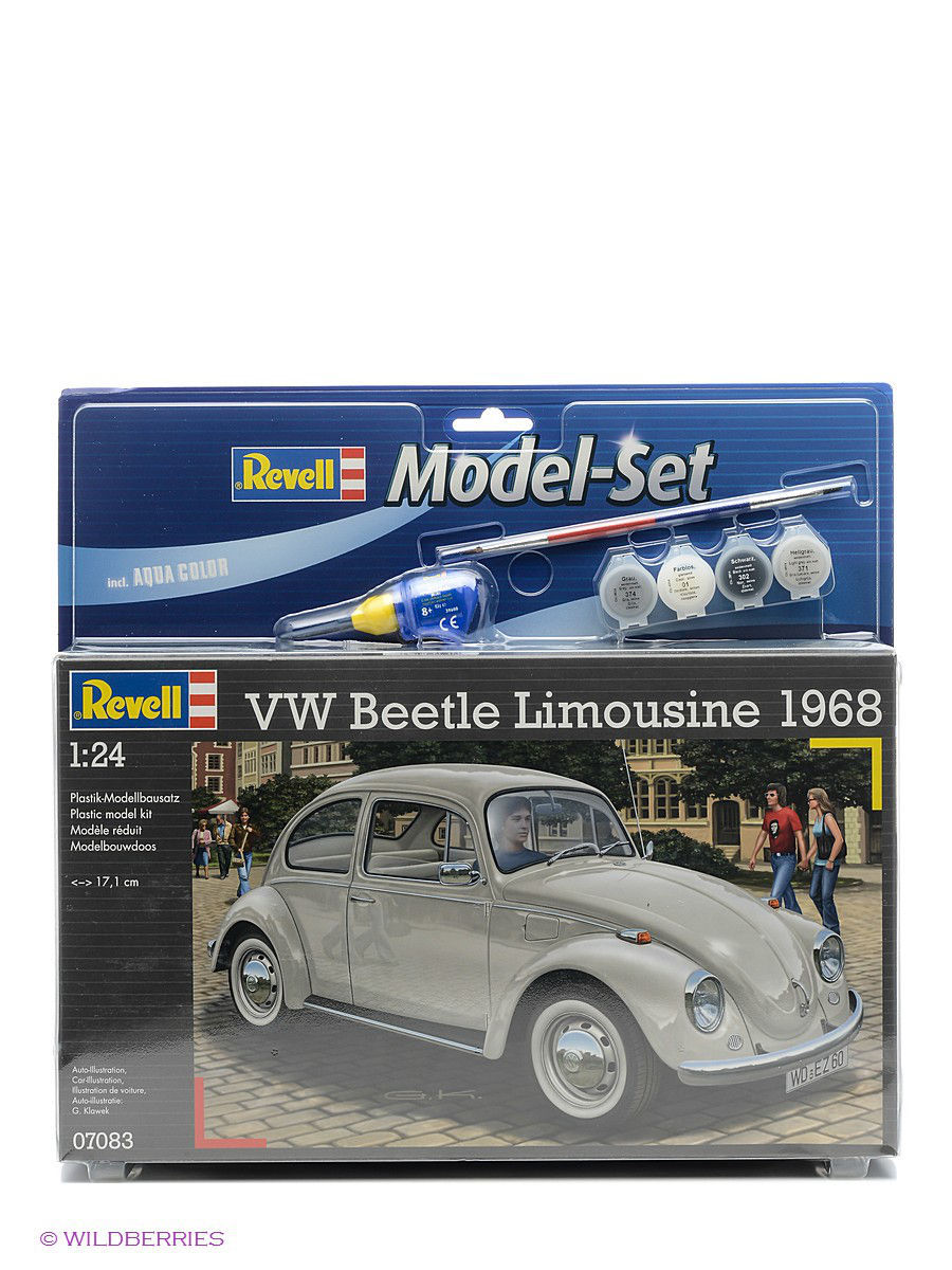 Машинки Revell Сборная модель Автомобиль VW Beetle Limousine 68 customize leaves blue sky and white clouds 3d ceiling murals wallpaper living room bedroom