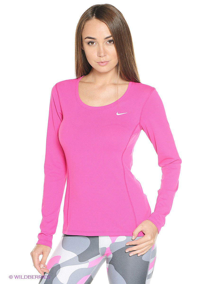 Лонгслив DRI-FIT CONTOUR LONG SLEEVE Nike 644707-616