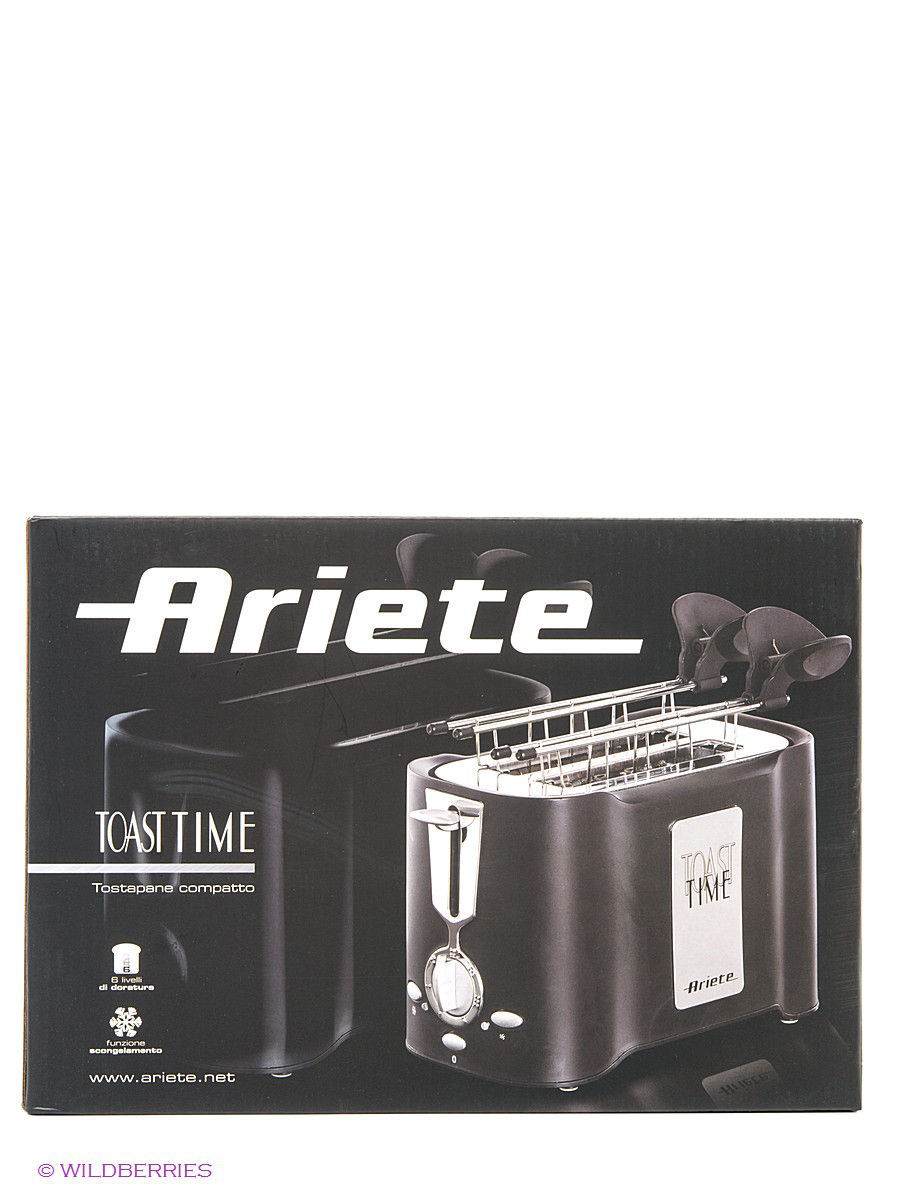 Тостеры ariete Тостер Ariete Тостер 124/1 TOASTY 500 Вт тостер ariete 186 party time red