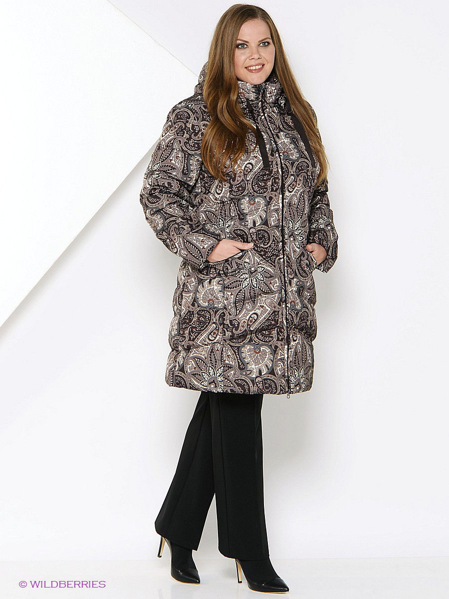 Пуховик Baon (Баон) B005623/DARKCHOCOLATEPRINTED: изображение 1