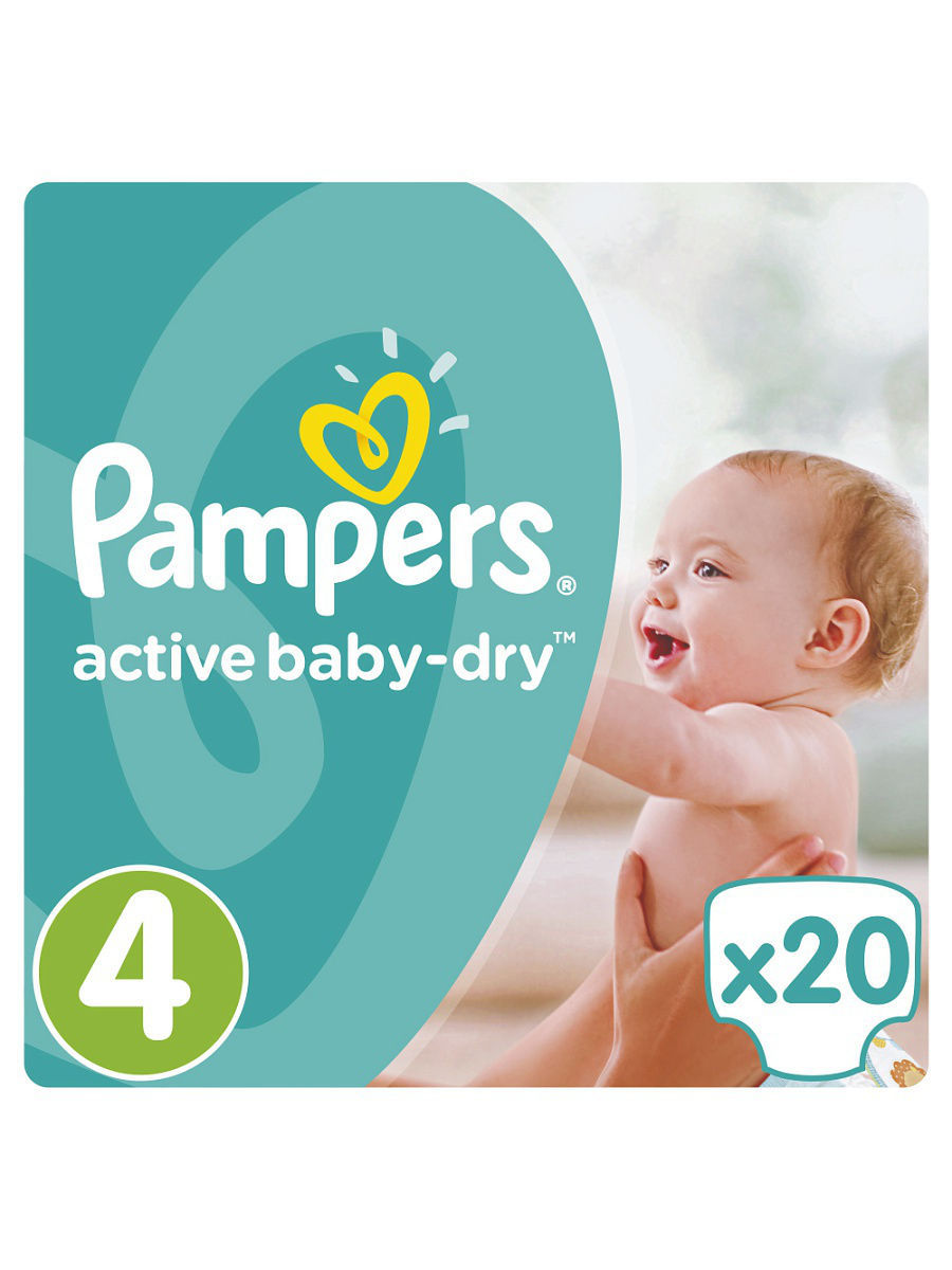 ���������� Pampers Active Baby-Dry 7-14 ��, 4 ������, 20 �� PA-81446647