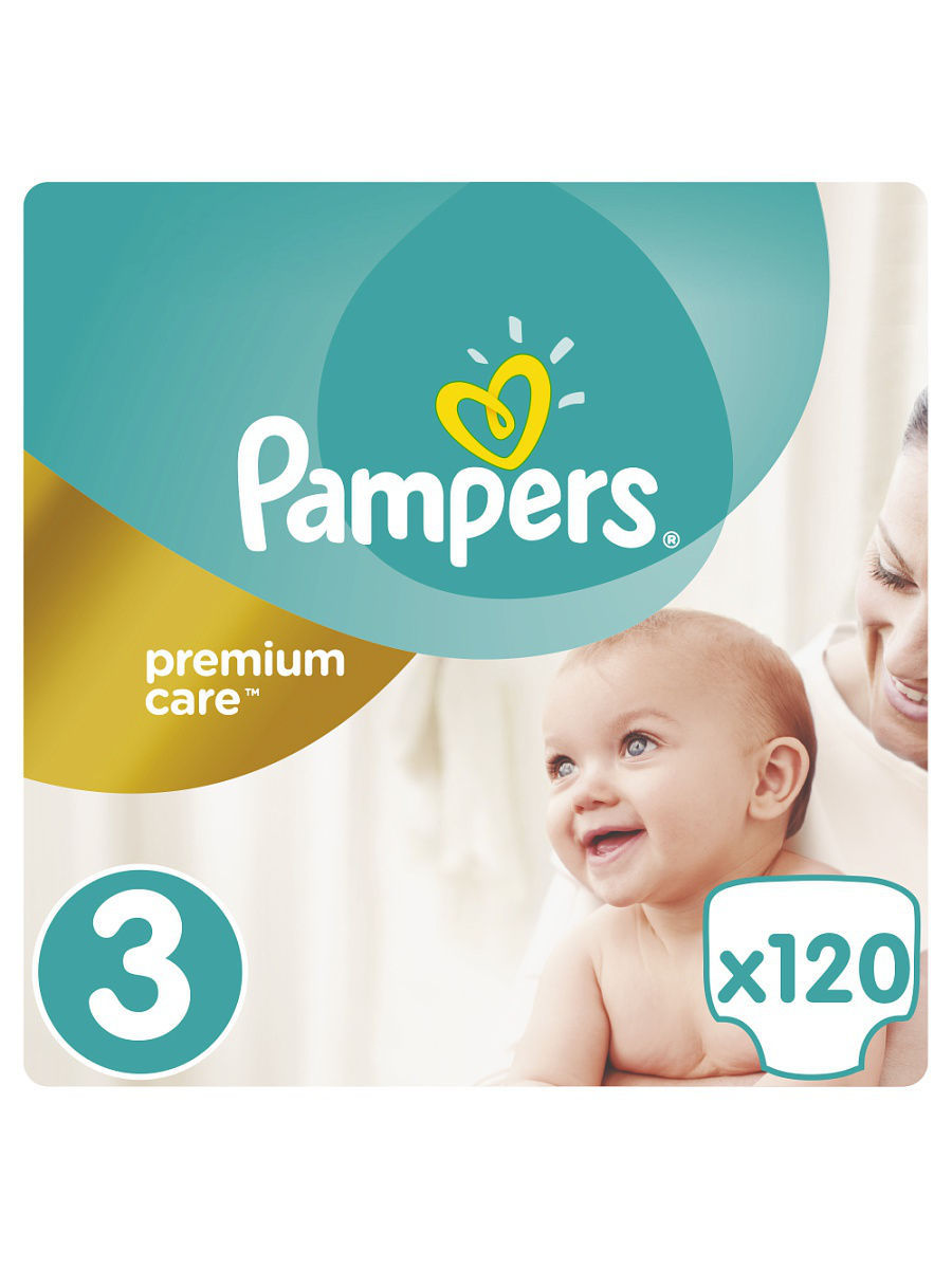 Подгузники Pampers Premium Care, 5-9 кг, 120 шт.
