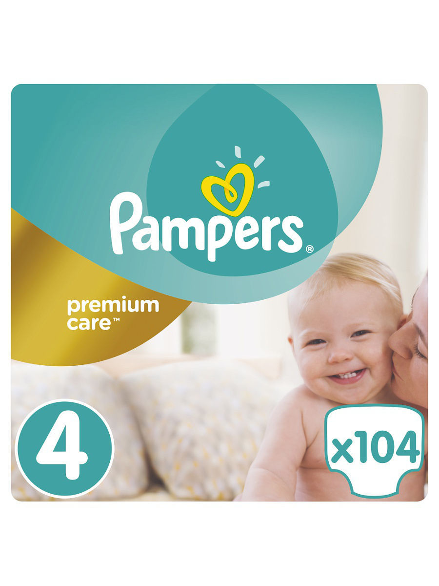 Подгузники Pampers Premium Care, 8-14 кг, 104 шт.