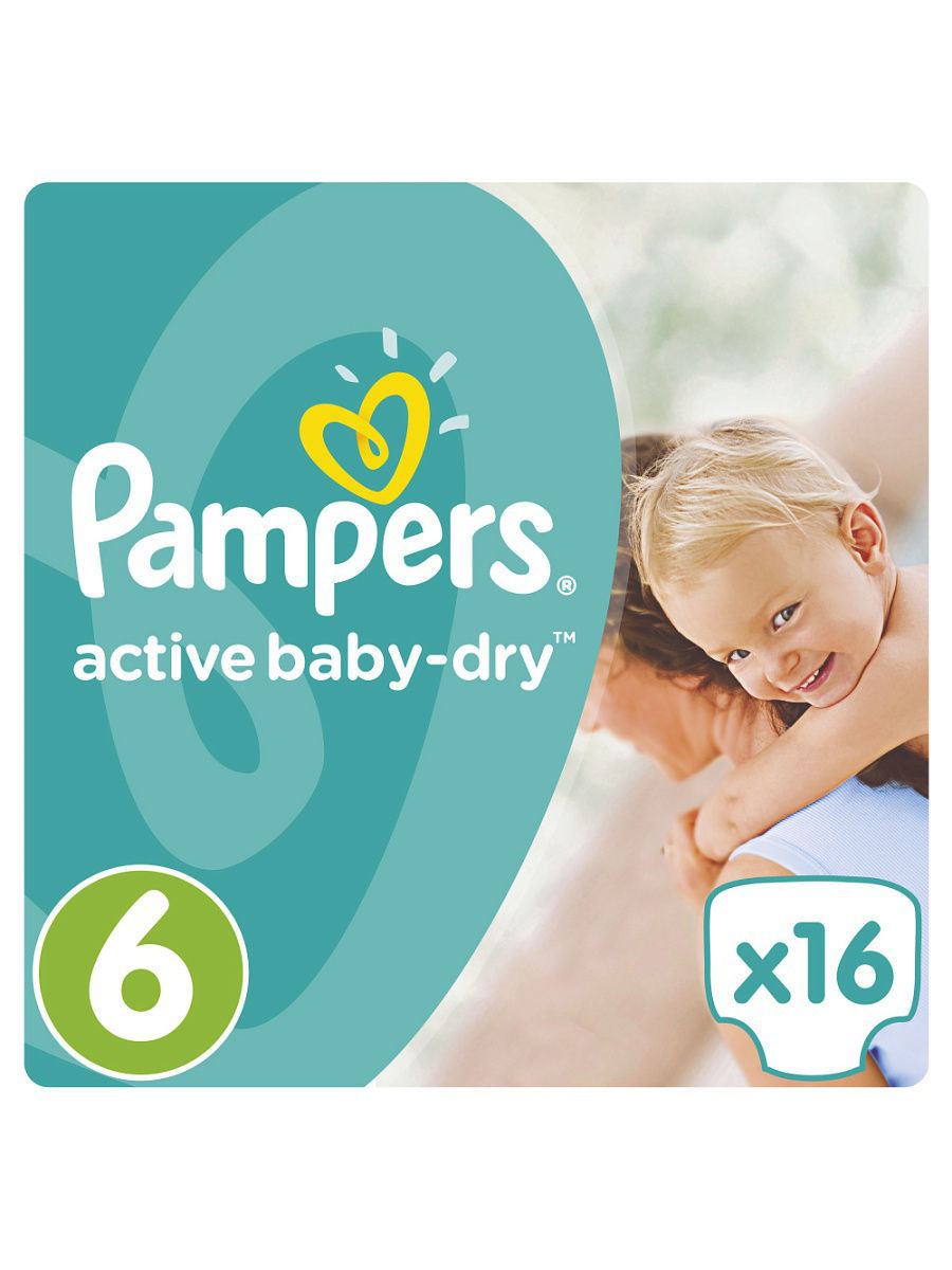 ���������� Pampers Active Baby-Dry 15+ ��, 6 ������, 16 �� PA-81499732