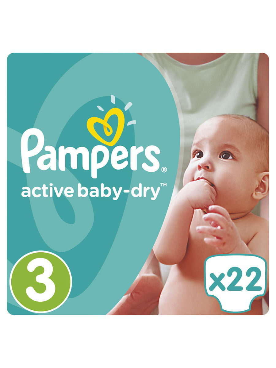 ���������� Pampers Active Baby-Dry 4-9 ��, 3 ������, 22 �� PA-81500421