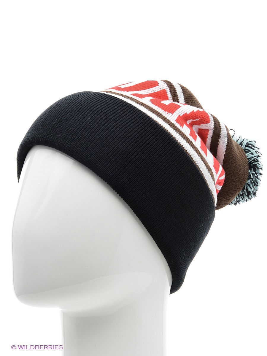 ����� TRUESPIN Cobra Pom Beanie True Spin TS-COBPOM14/Brown/White/Black