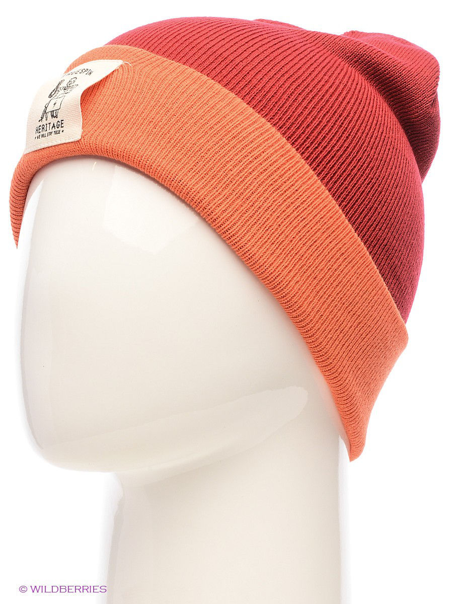 ����� TRUESPIN Heritage Classic Beanie True Spin TS-HERI14/Red/Orange