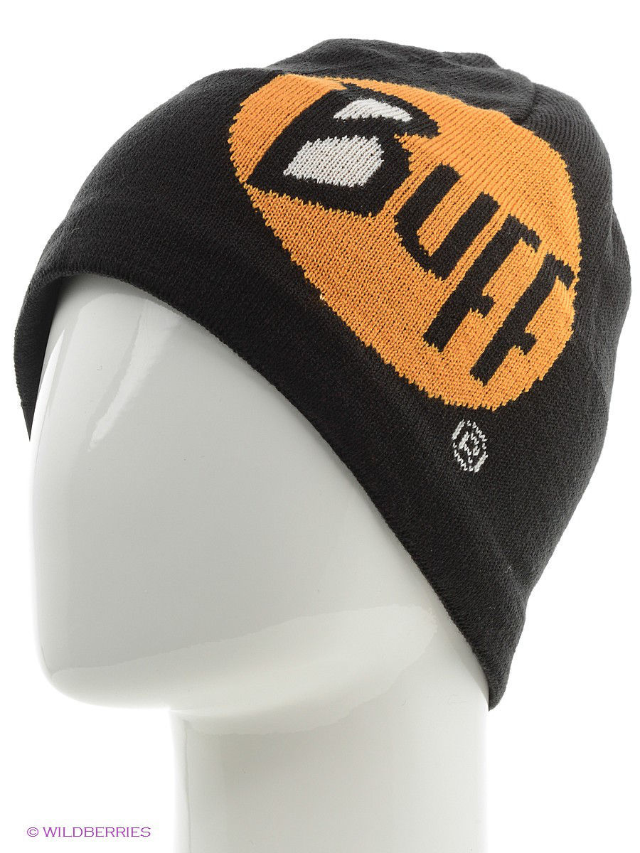 Шапки Buff Шапка BUFF KNITTED HATS BUFF LOGO BLACK