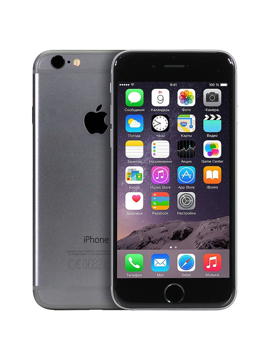 Смартфон iPhone 6, 128Gb Space Gray