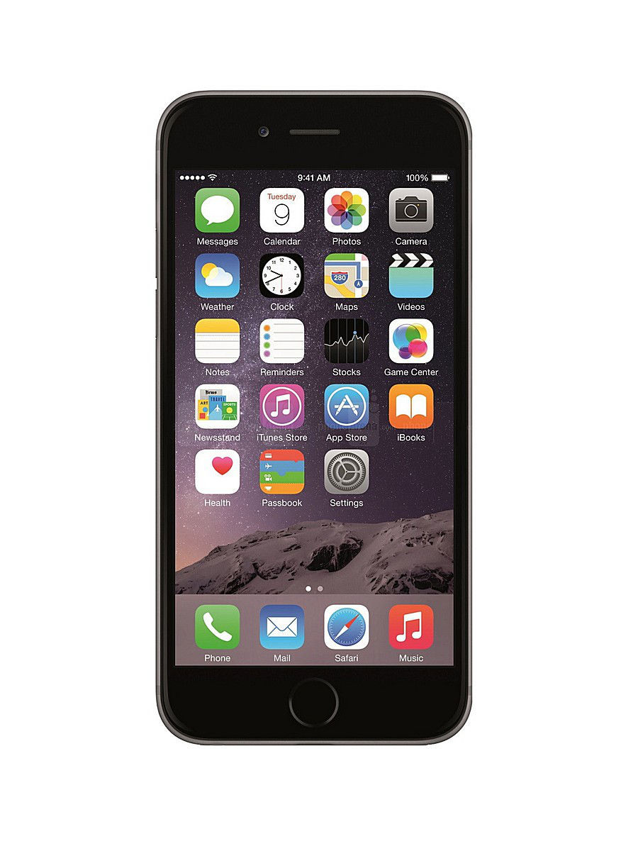 Apple Смартфон iPhone 6 Plus, 64Gb Space Gray радиотелефон dect panasonic kx tg6722rub черный