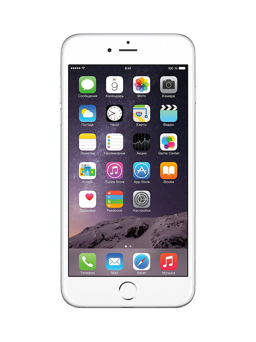 Смартфоны Apple Смартфон iPhone 6 Plus, 64Gb Silver