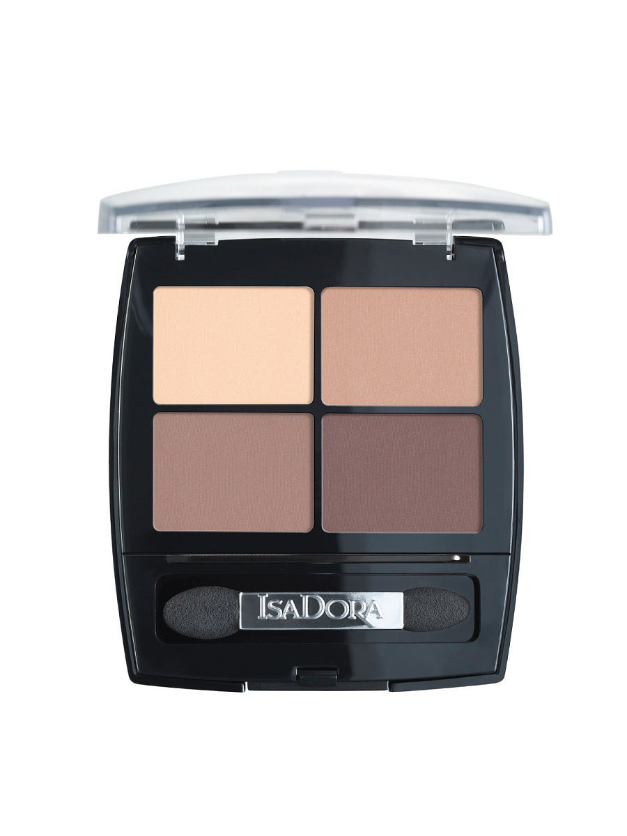 Тени ISADORA Тени для векEye Shadow Quartet 44, 7,2г тени для век isadora eye shadow quartet 03 цвет 03 urban green variant hex name a19388