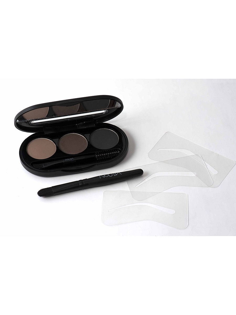 Тени NOUBA Набор теней для бровейEyebrow Powder Kit 01, 8г гель для бровей с микроволокнами eyebrow booster filling effect 6 8мл