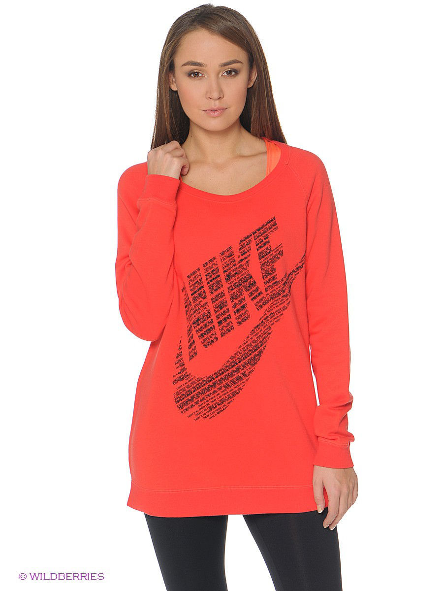 Свитшоты Nike Свитшот RALLY BF CREW свитшоты nike свитшот dri fit training crew gfx
