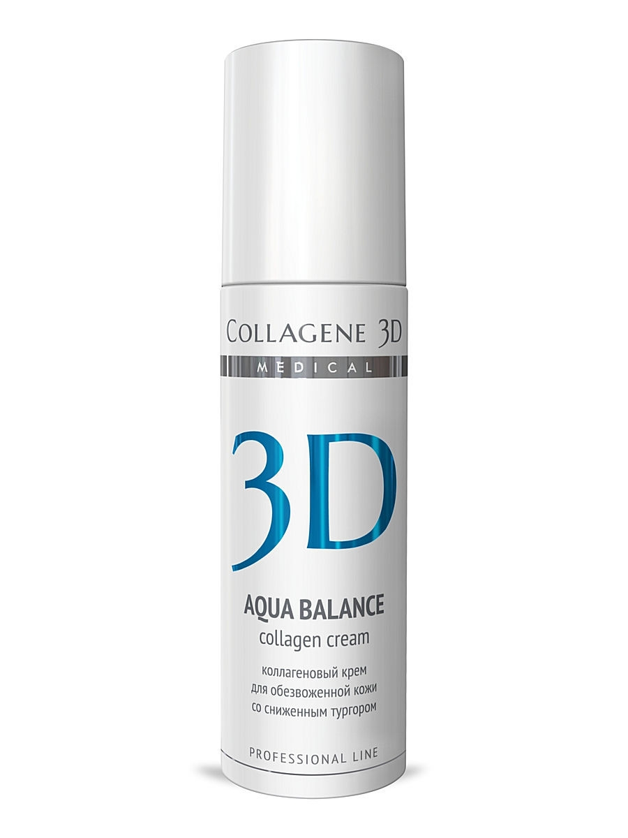 Кремы Medical Collagene 3D Крем-эксперт  ПРОФ Aqua Balance 150 мл medical collagene 3d энзимный пилинг c коллагеназой medical collagene 3d natural peel enzyme peeling 26005 150 мл