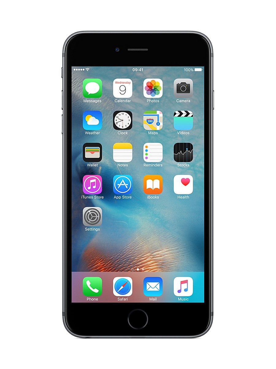 Смартфоны Apple Смартфон iPhone 6S PLUS, 16Gb Space Gray смартфон apple iphone 6s plus 16gb gold ios 9 a9 1840mhz 5 5 1920x1080 2048mb 16gb 4g lte 3g edge hsdpa hspa [mku32ru a]