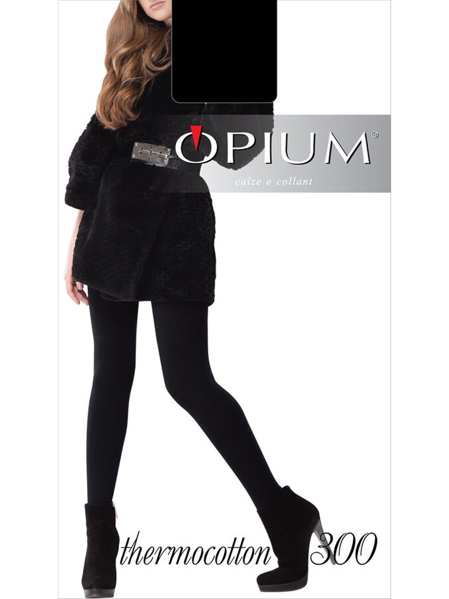 Колготки OPIUM Thermocotton300/nero