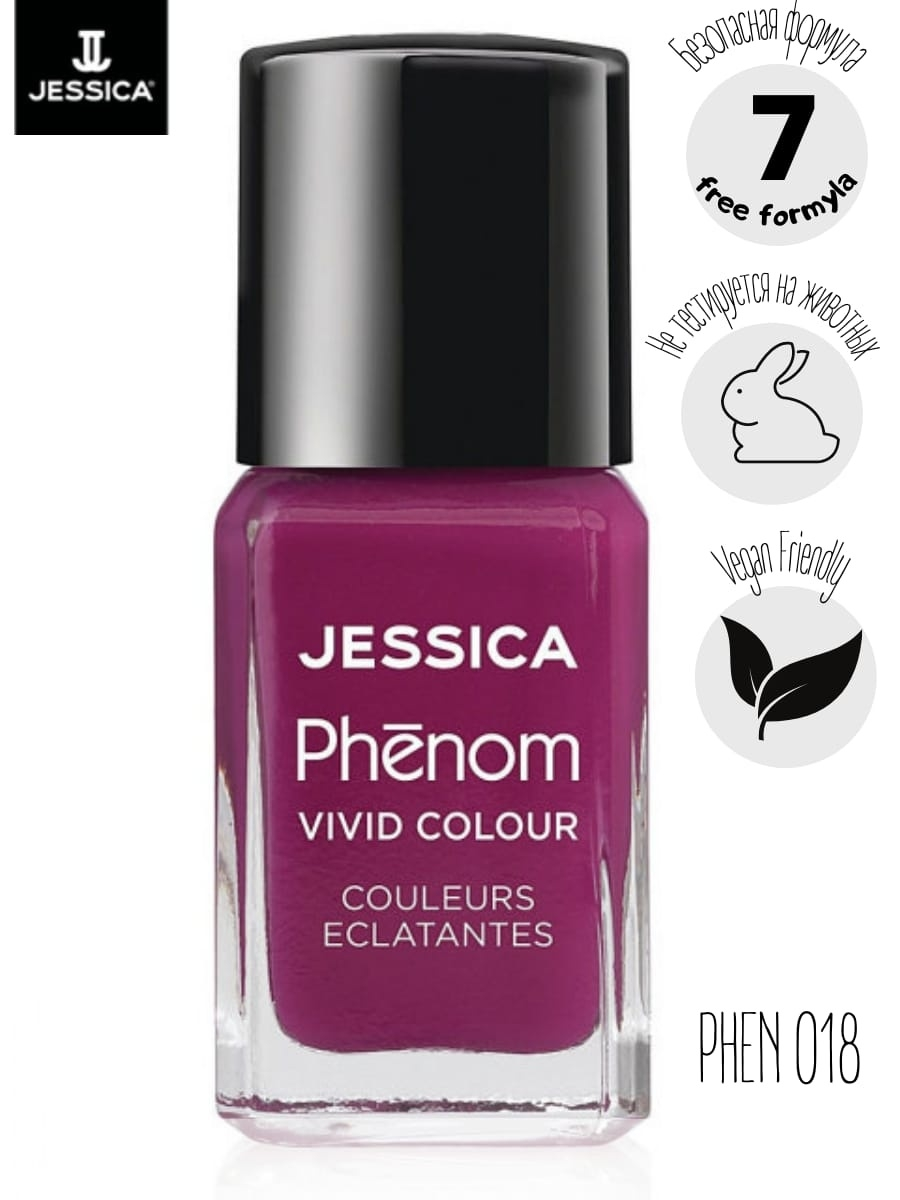"JESSICA Phenom Цветное покрытие Vivid Colour ""Lap of Luxury"" № 18, 15 мл"