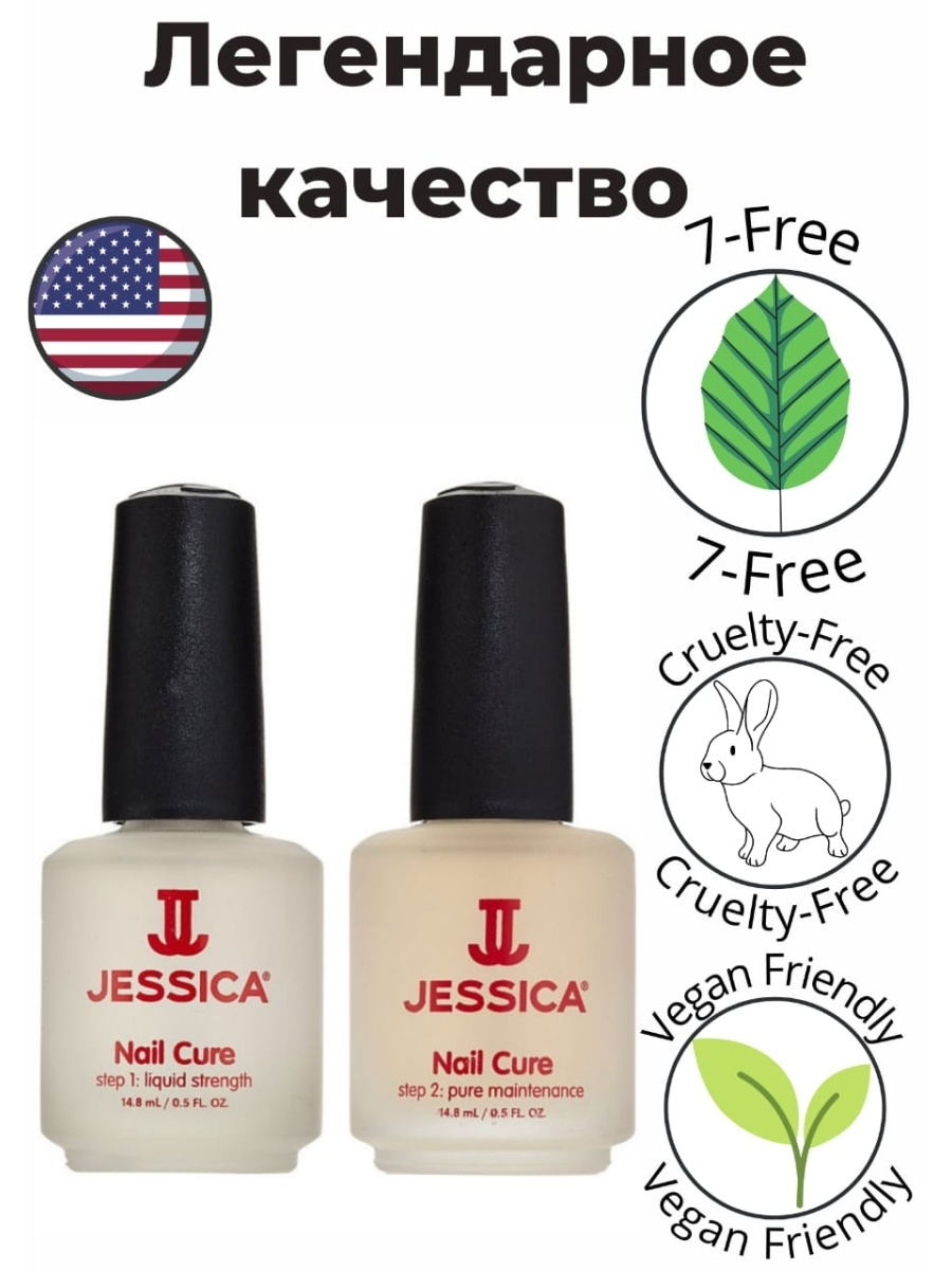 2-� ����������� �������� ��� ����� �� ������� Nail Cure Twin-Pack, 2 �14,8�� JESSICA UP210