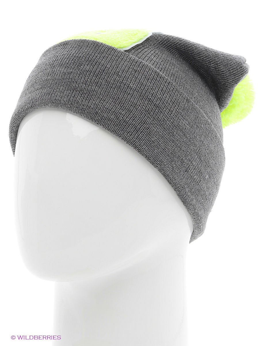 Шапка True Spin TS-ABCPOM14Grey/Lime-B