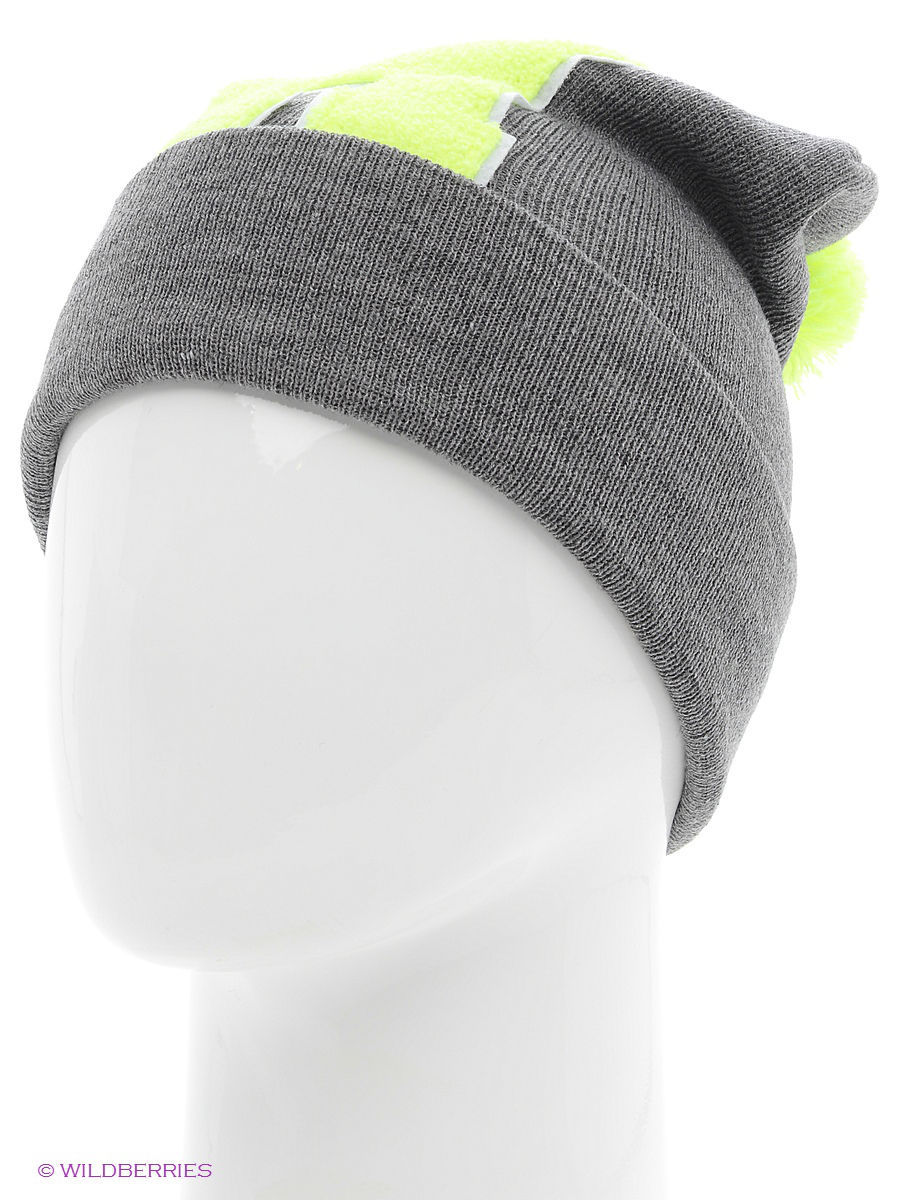 Шапка True Spin TS-ABCPOM14Grey/Lime-H
