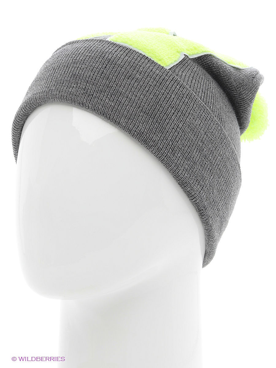 Шапка True Spin TS-ABCPOM14Grey/Lime-W