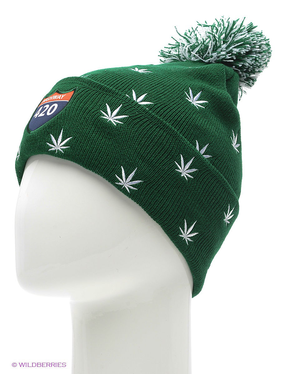 Шапка True Spin TS-WEED14Green/White