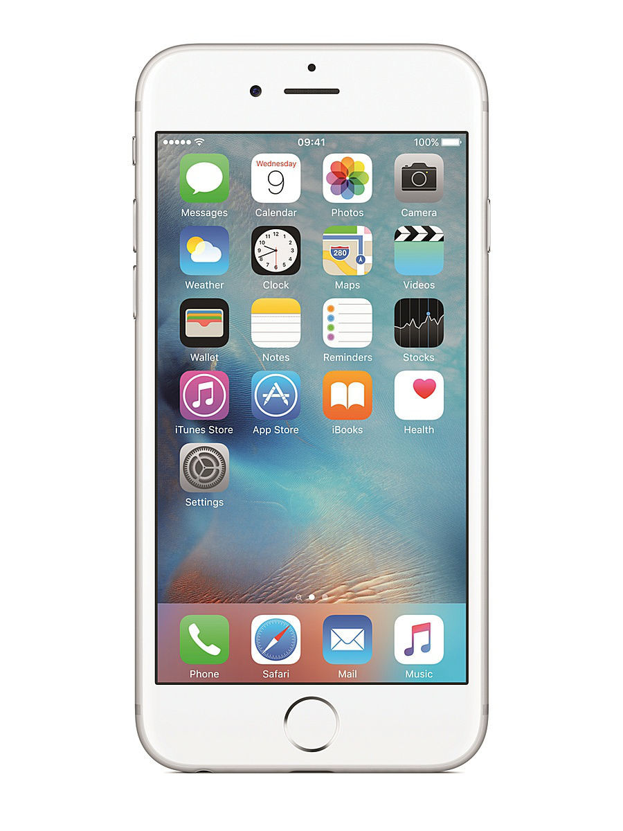 Смартфон APPLE iPhone 6s MKQP2RU/A 64Gb, серебристый