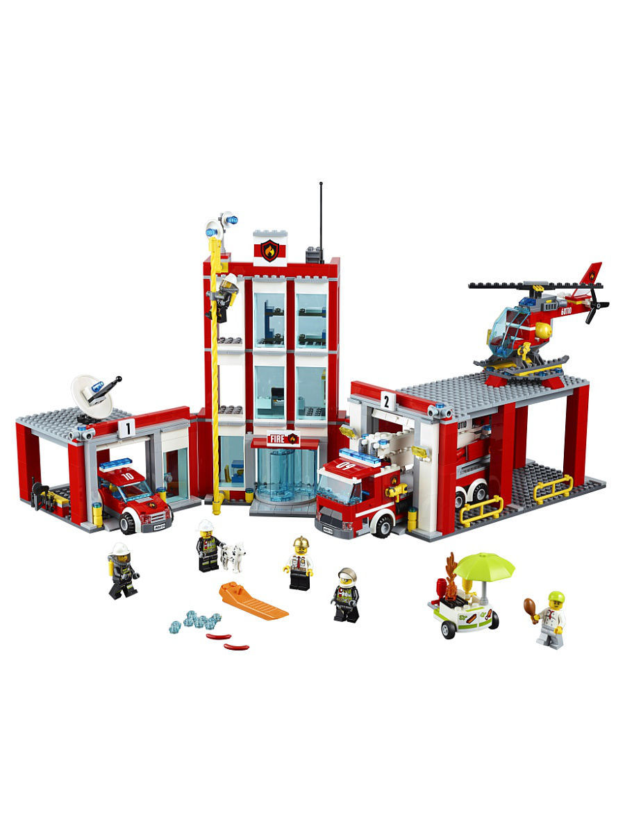 Конструкторы Lego LEGO City Fire Пожарная часть 60110 грузовик пожарная автоцистерна 34613