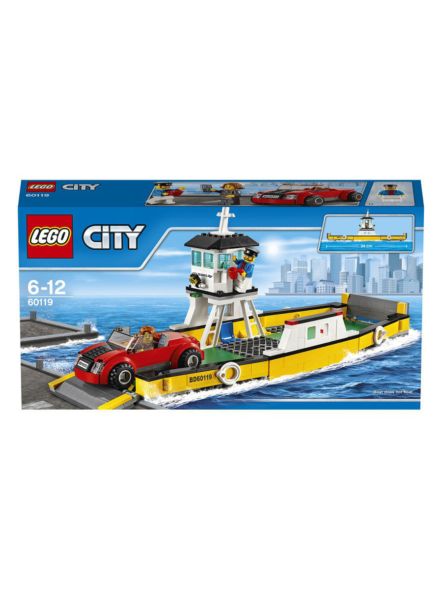 Конструкторы Lego LEGO City Great Vehicles Паром 60119 конструкторы lego lego city побег в шине 60126