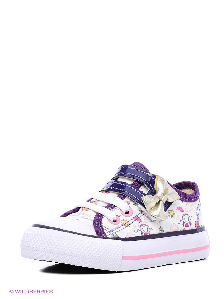 Кеды 4U Ss1311/White-Purple