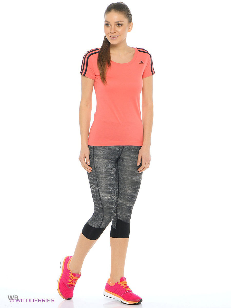 Бриджи Adidas Бриджи TECHFIT CAPRI PRINT HEATHER лонгслив adidas лонгслив performance techfit chill