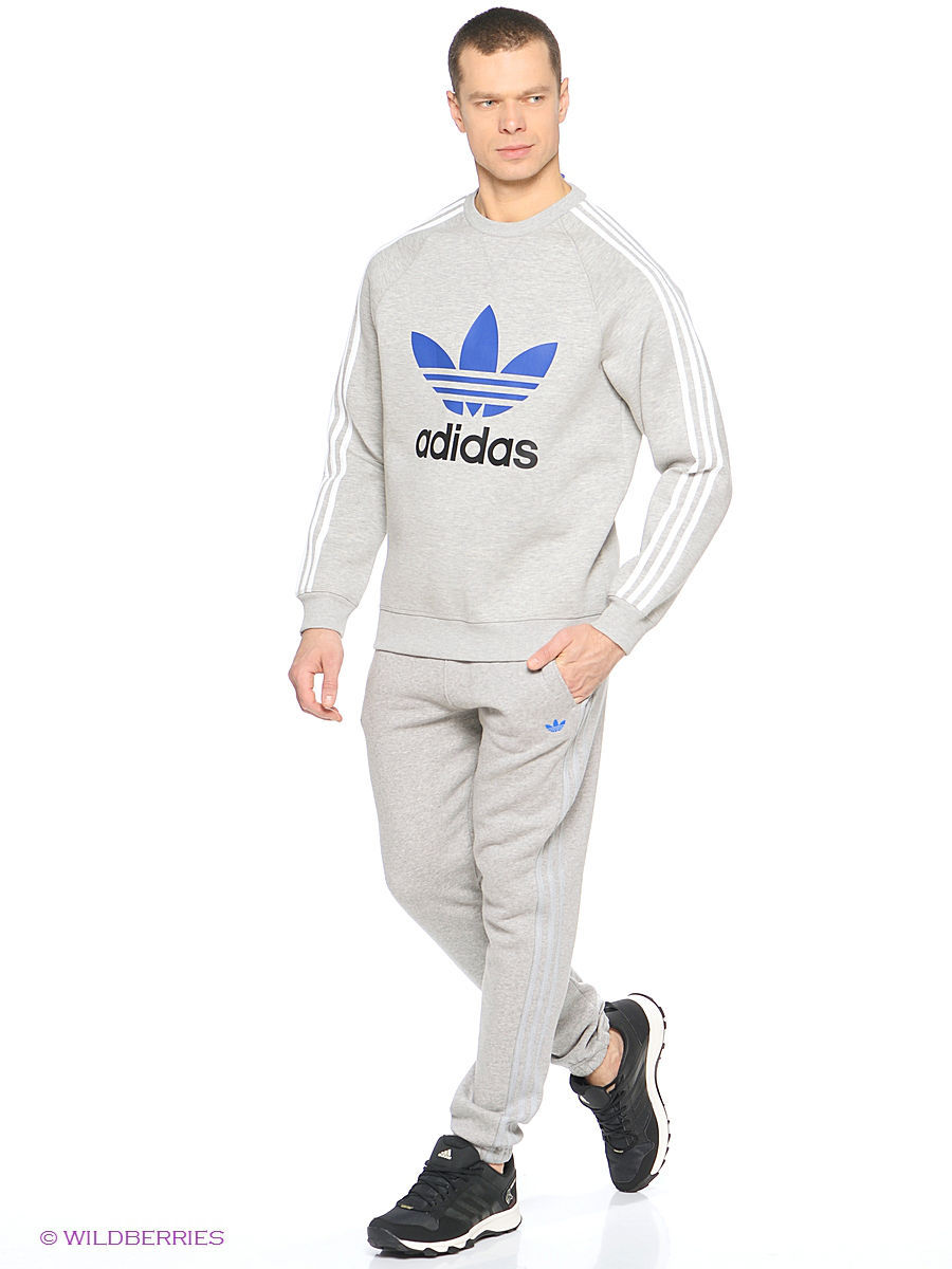 Свитшоты Adidas Свитшот Originals Trefoil Crew the north face олимпийка