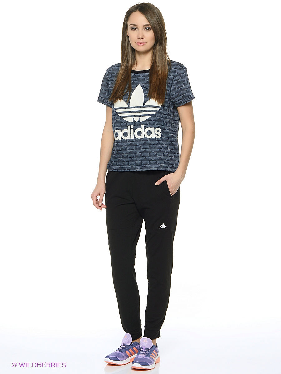 Футболка Adidas Футболка Track Denim Tee adidas denim superskin