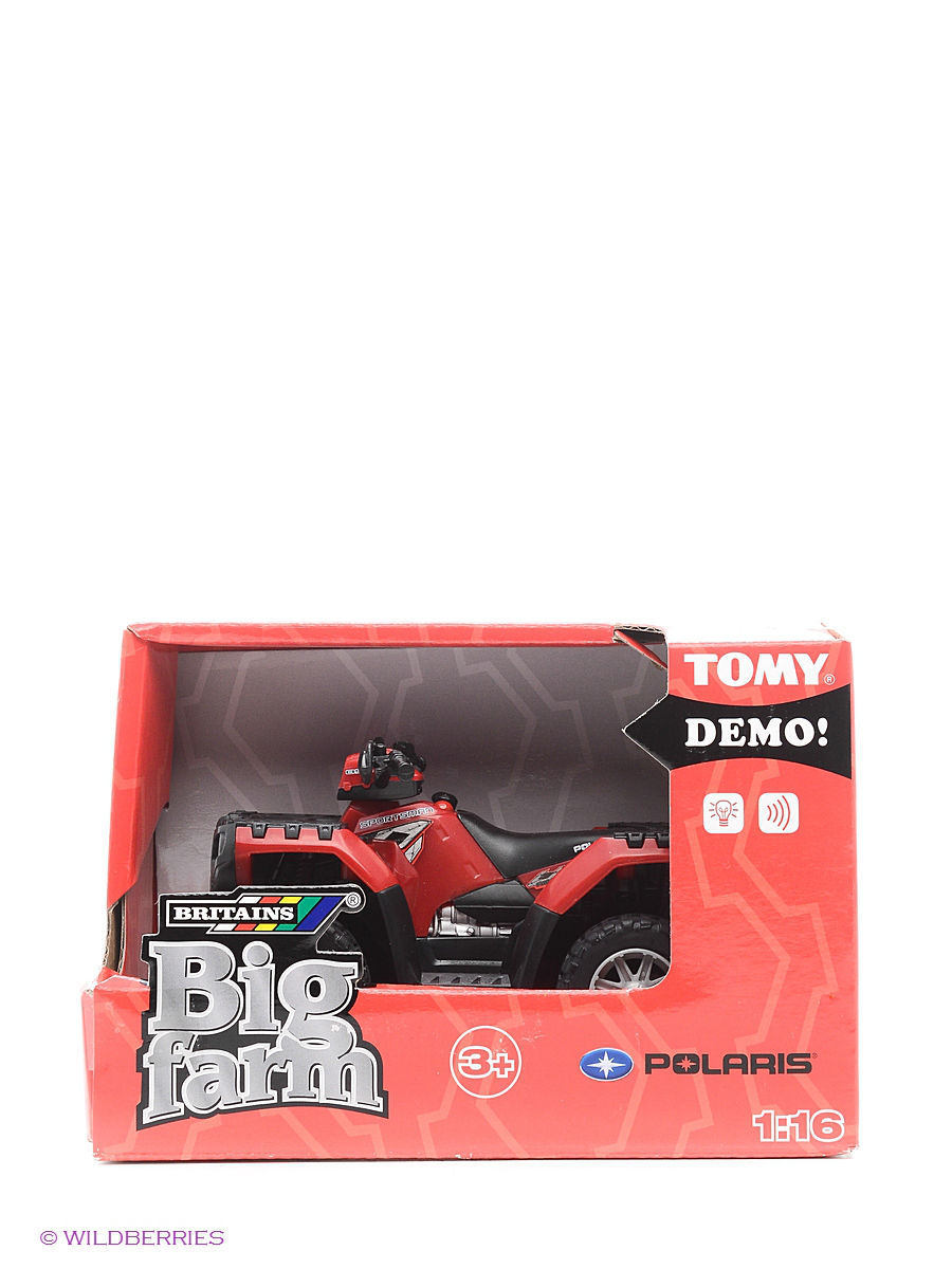 Машинки TOMY Квадроцикл Polaris ATV Tomy tomy пират