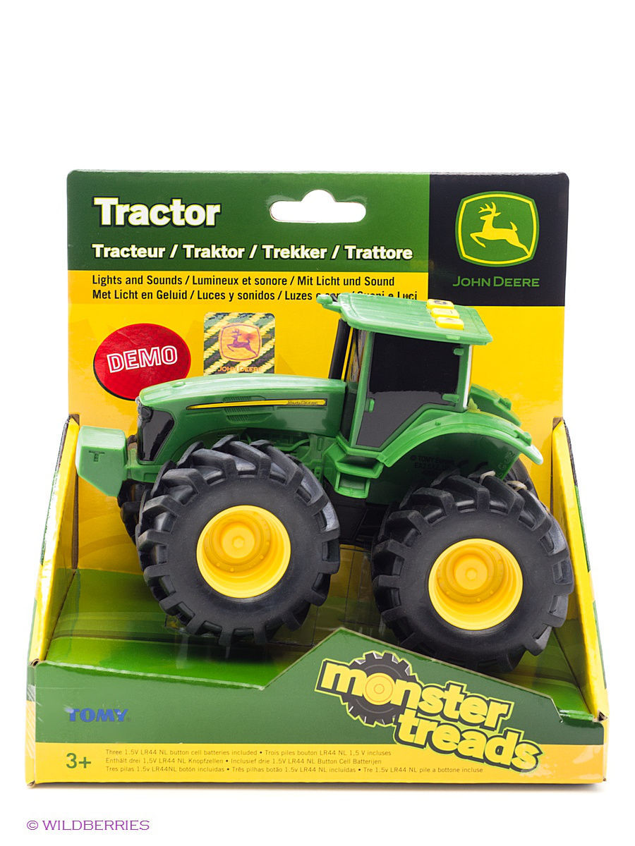 Машинки TOMY Трактор John Deere Tomy машина tomy john deere mega monster wheels т11312