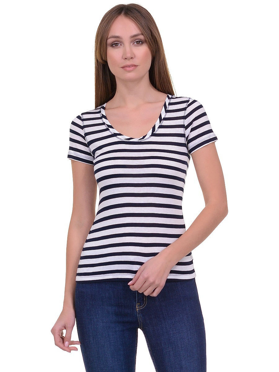 Футболка Baon (Баон) B236203/DARKNAVY-WHITESTRIPED