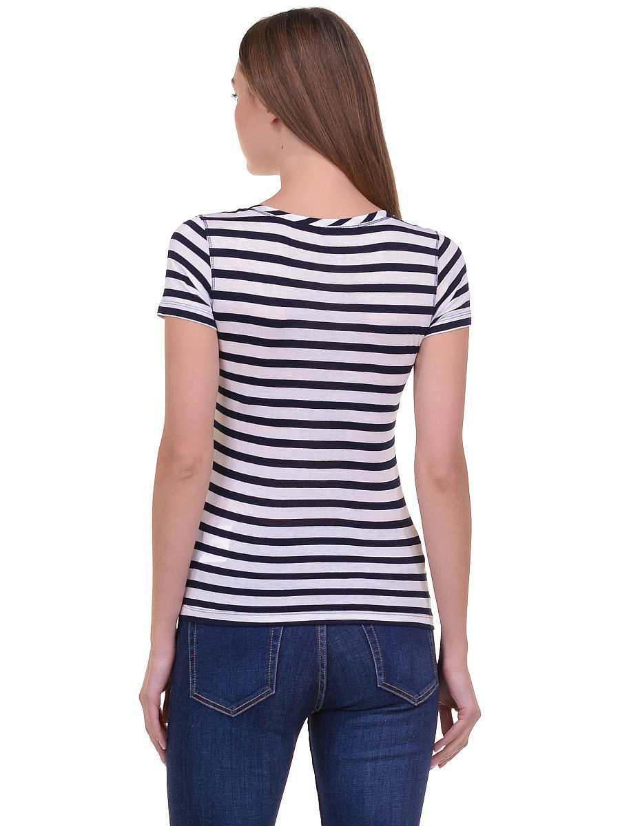 Футболка Baon (Баон) B236203/DARKNAVY-WHITESTRIPED: изображение 2