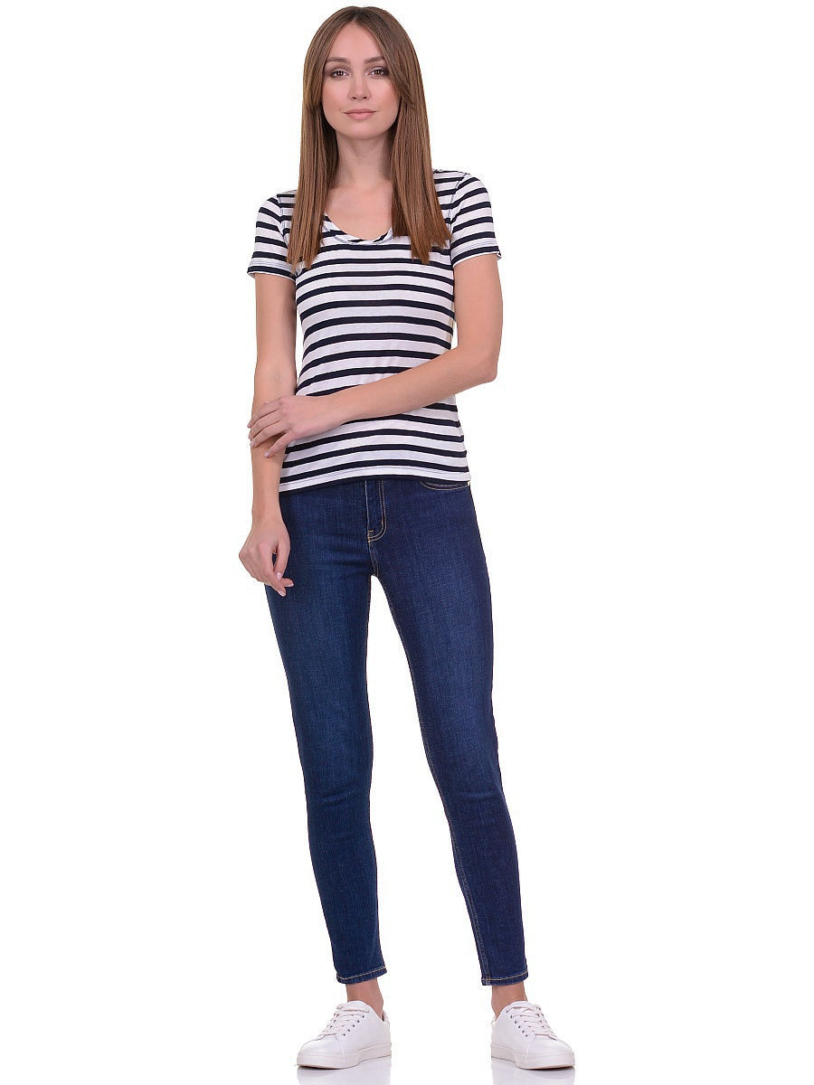 Футболка Baon (Баон) B236203/DARKNAVY-WHITESTRIPED: изображение 3