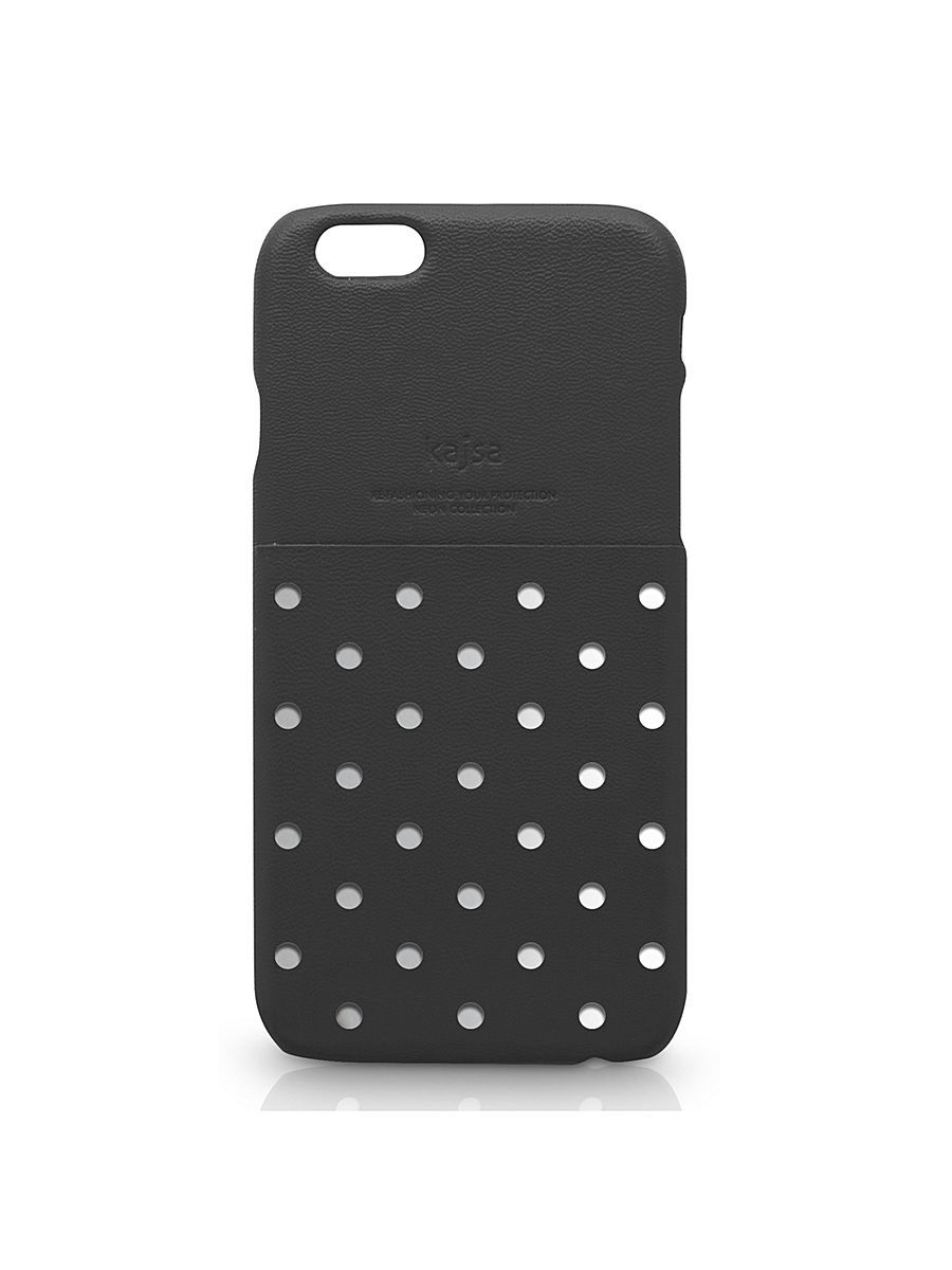 Чехлы для телефонов Kajsa Чехол для  iPhone 6 Plus Neon Collection Polka Dot pattern Pocket back case [iPhone 6- 5.5], Black чехлы для телефонов kajsa чехол для iphone 6 plus preppie collection saffiano leather folio case [iphone 6 5 5] pearl white