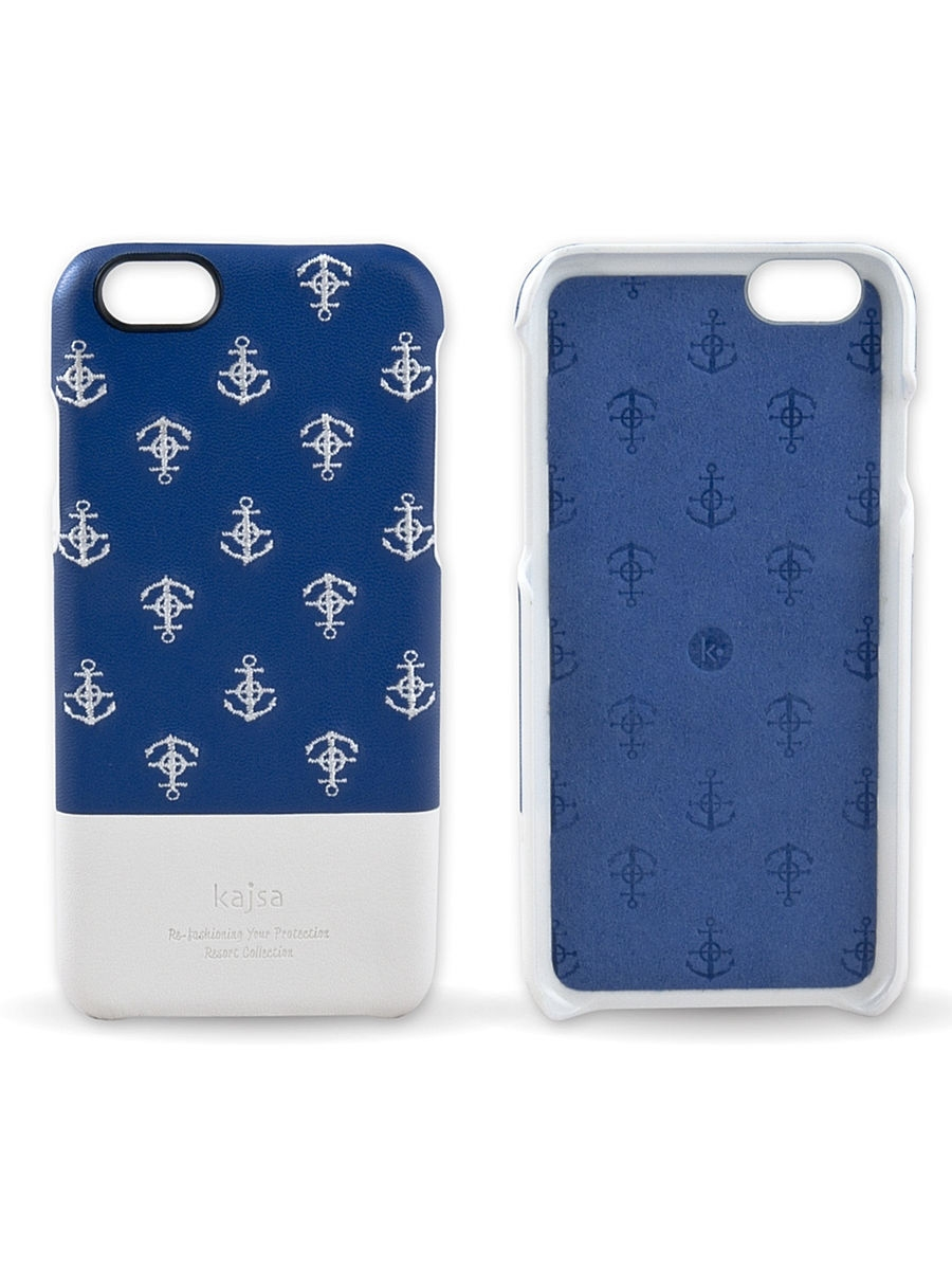 Чехлы для телефонов Kajsa Чехол для iPhone 6-4.7 Resort Collection Anchor back case [iPhone 6-4.7],Blue чехлы для телефонов kajsa чехол для iphone 6 plus preppie collection saffiano leather folio case [iphone 6 5 5] pearl white