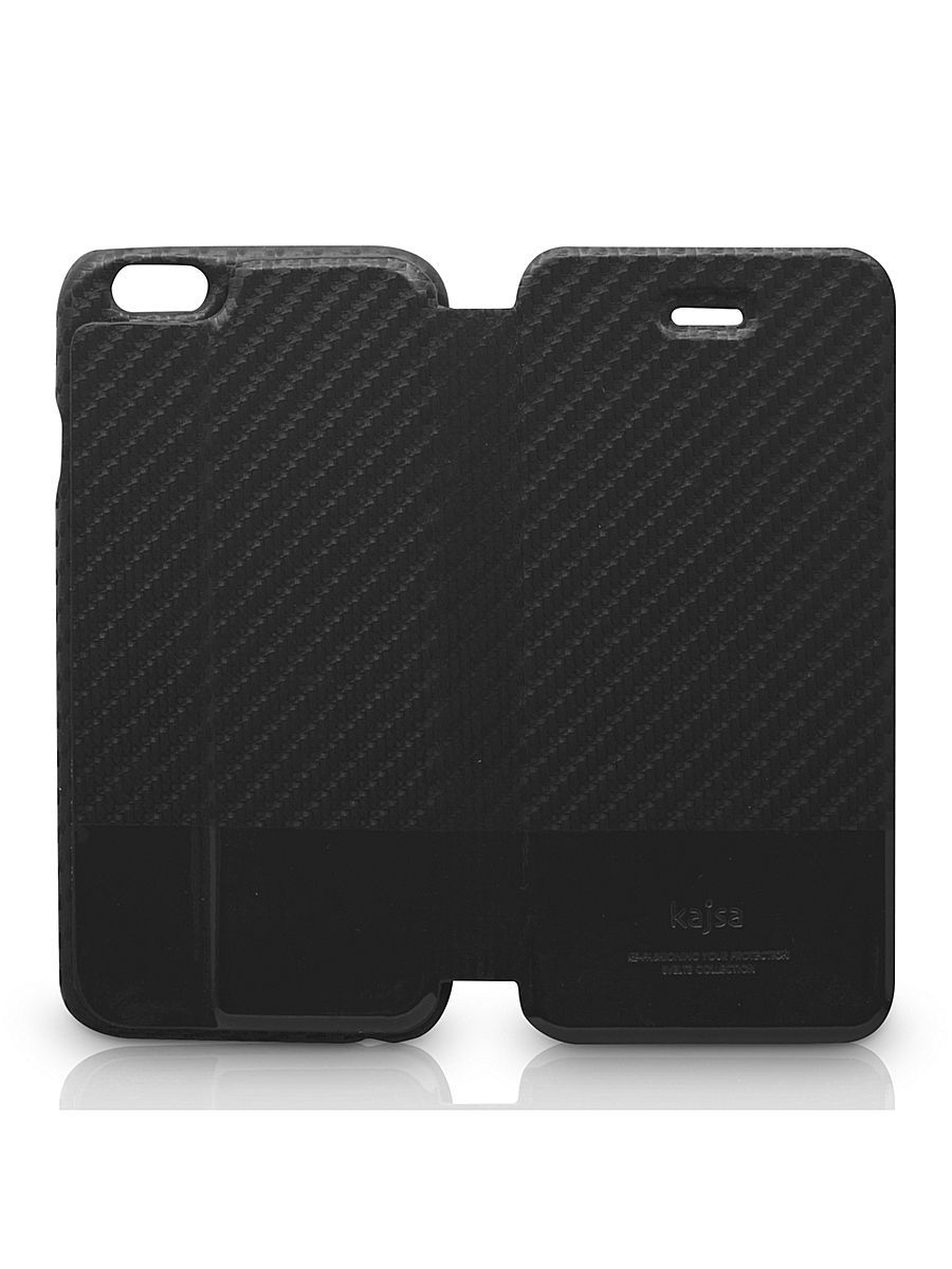 Чехлы для телефонов Kajsa Чехол для  iPhone 6 Plus Svelte Collection Carbon Fibre folio case [iPhone 6-5.5], Black чехлы для телефонов kajsa чехол для iphone 6 plus preppie collection saffiano leather folio case [iphone 6 5 5] pearl white