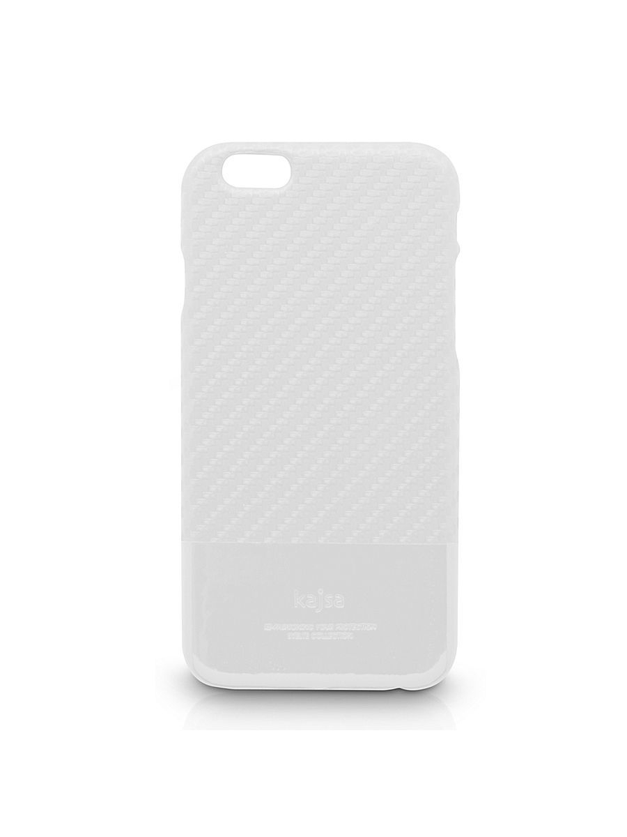 Чехлы для телефонов Kajsa Чехол для  iPhone 6 Plus Svelte Collection Carbon Fibre folio case [iPhone 6-5.5], White чехлы для телефонов kajsa чехол для iphone 6 plus preppie collection saffiano leather folio case [iphone 6 5 5] pearl white