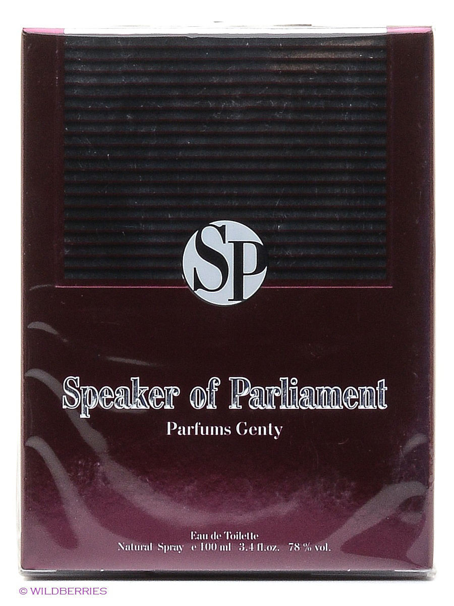 Туалетная вода SPEAKER OF PARLIAMENT EDT 100 ML SPRAY PARFUMS GENTY ELOR42918