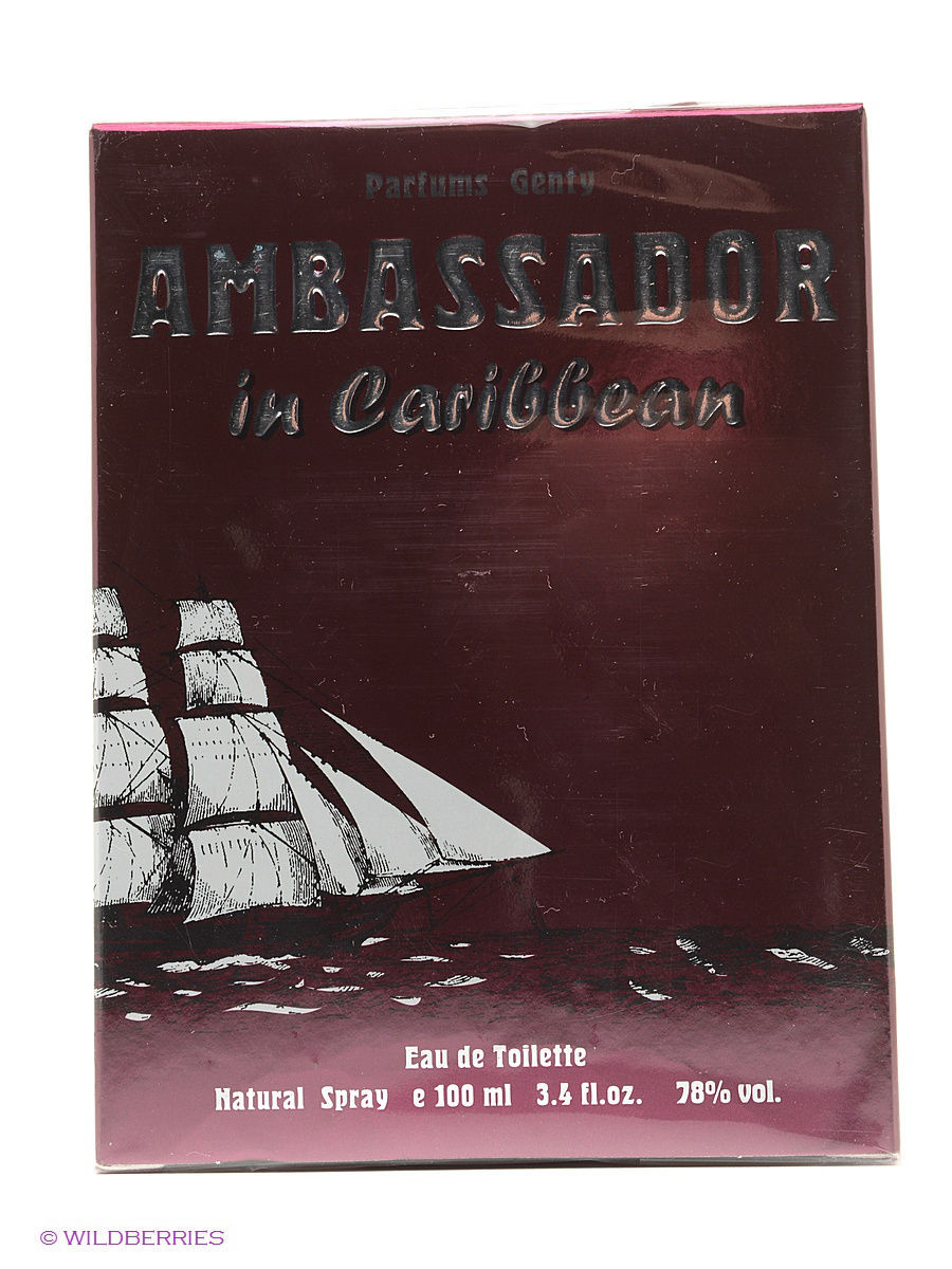 Туалетная вода AMBASSADOR IN CARIBBEAN EDT 100 ML SPRAY PARFUMS GENTY ELOR43632