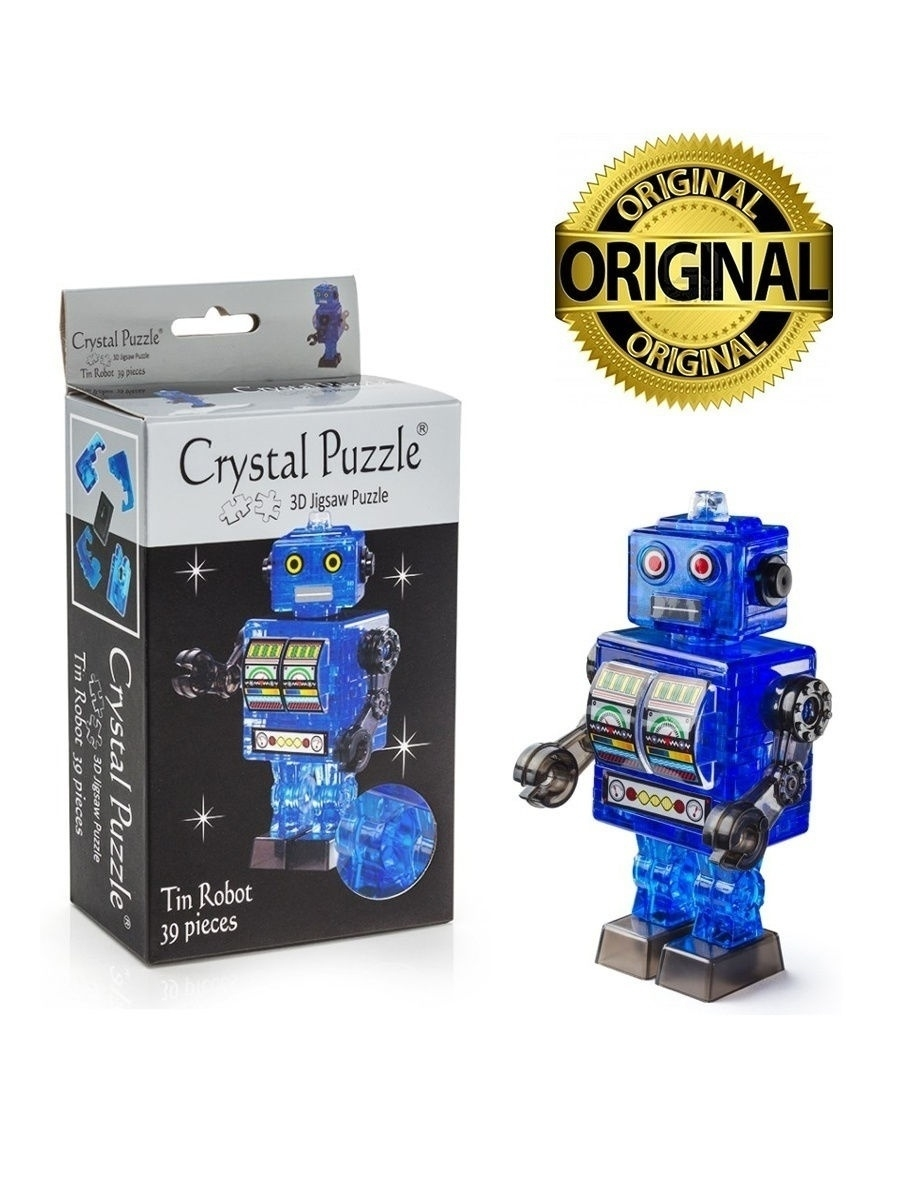 пазлы crystal puzzle головоломка 3d мельница Пазлы Crystal puzzle 3D головоломка Робот cиний